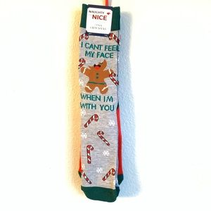 NEW Christmas Gingerbread Man Novelty Crew Socks